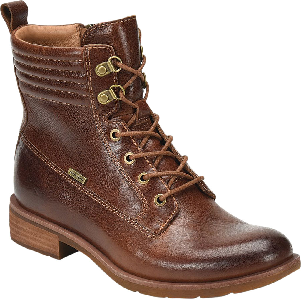 Women's Sofft Baxter Lace Up Boot, Whiskey Aqua Sofft Waterproof Leather, large, image 1