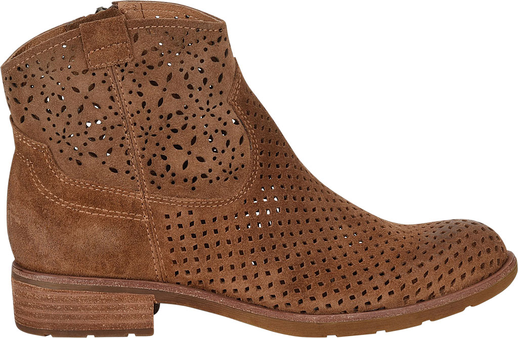 Women's Sofft Brooklee Perforated Ankle Bootie, Light Brown Cow Suede, large, image 2