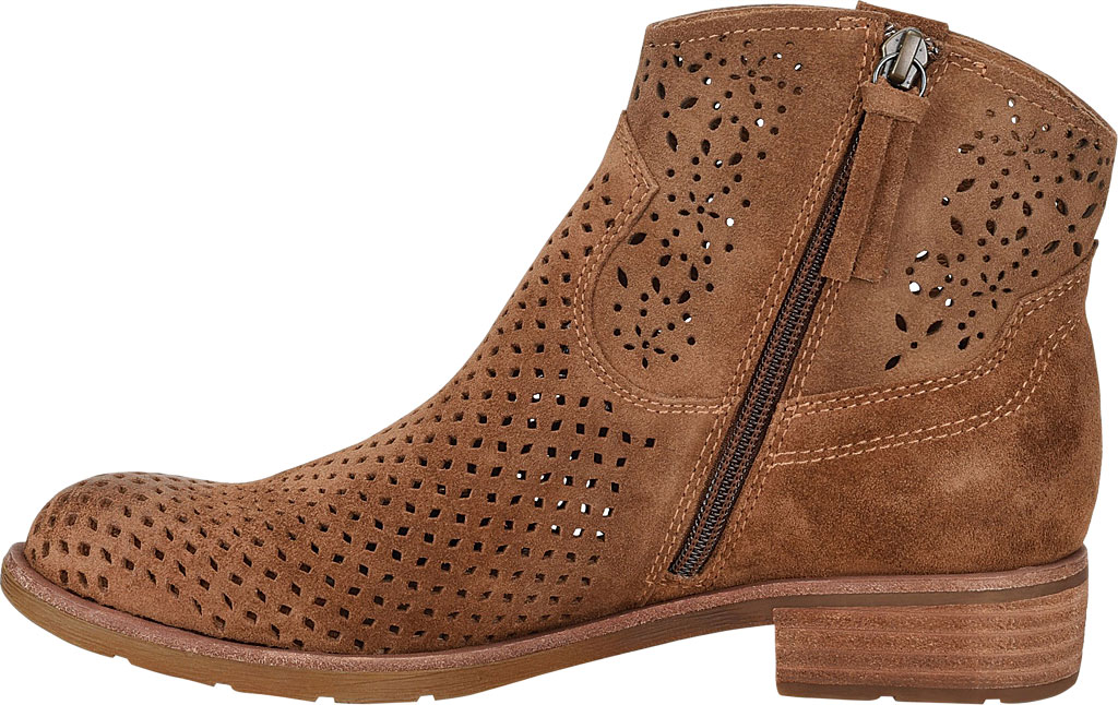 Women's Sofft Brooklee Perforated Ankle Bootie, Light Brown Cow Suede, large, image 3
