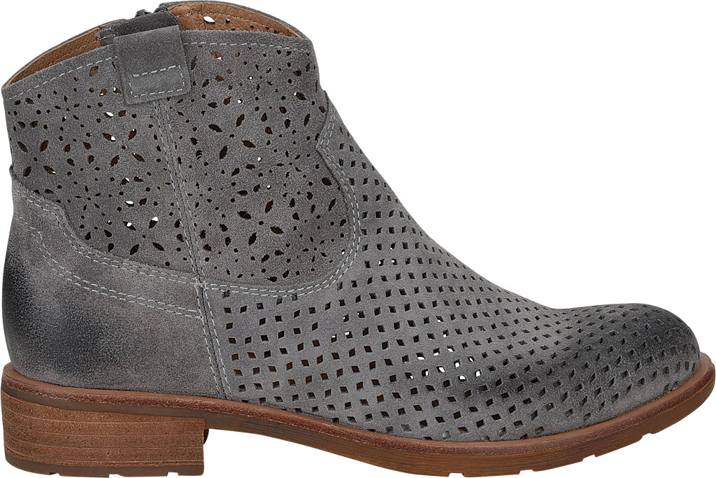 Women's Sofft Brooklee Perforated Ankle Bootie, Steel Grey Cow Suede, large, image 2