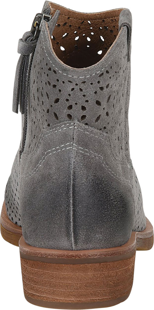 Women's Sofft Brooklee Perforated Ankle Bootie, Steel Grey Cow Suede, large, image 4