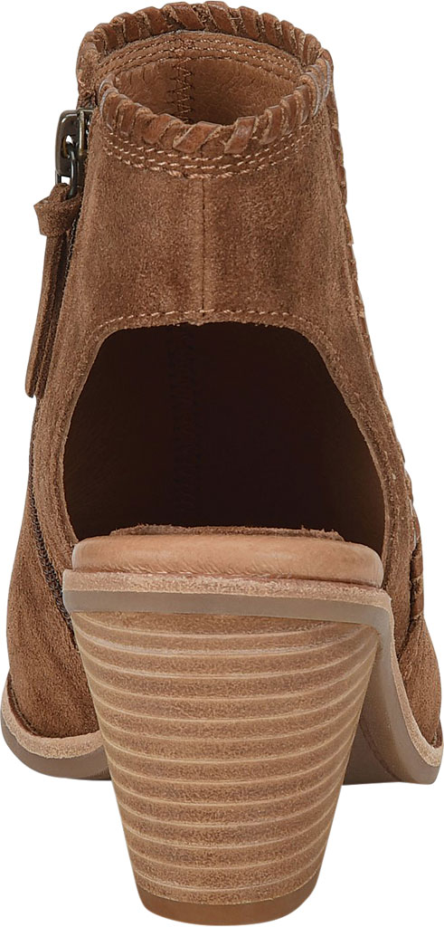 Women's Sofft Maleigha Heeled Open Toe Bootie, Light Brown Cow Suede, large, image 4