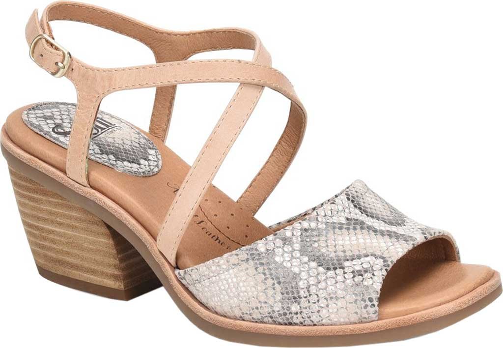 Women's Sofft Piara Heeled Slingback, Nude/Rosewater Snake Print Leather, large, image 1