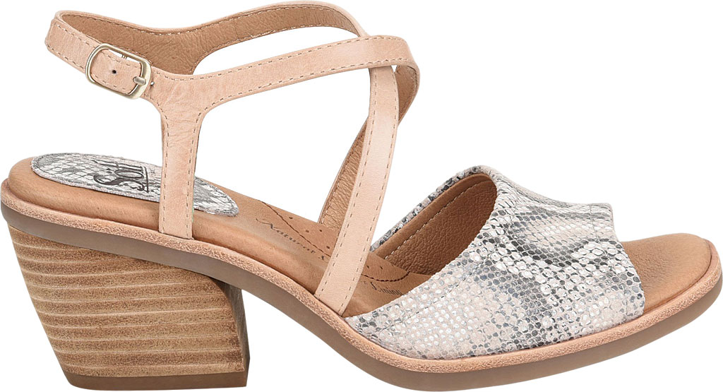 Women's Sofft Piara Heeled Slingback, Nude/Rosewater Snake Print Leather, large, image 2