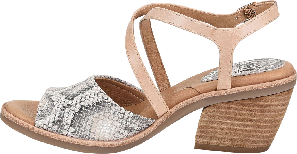 Women's Sofft Piara Heeled Slingback, Nude/Rosewater Snake Print Leather, large, image 3