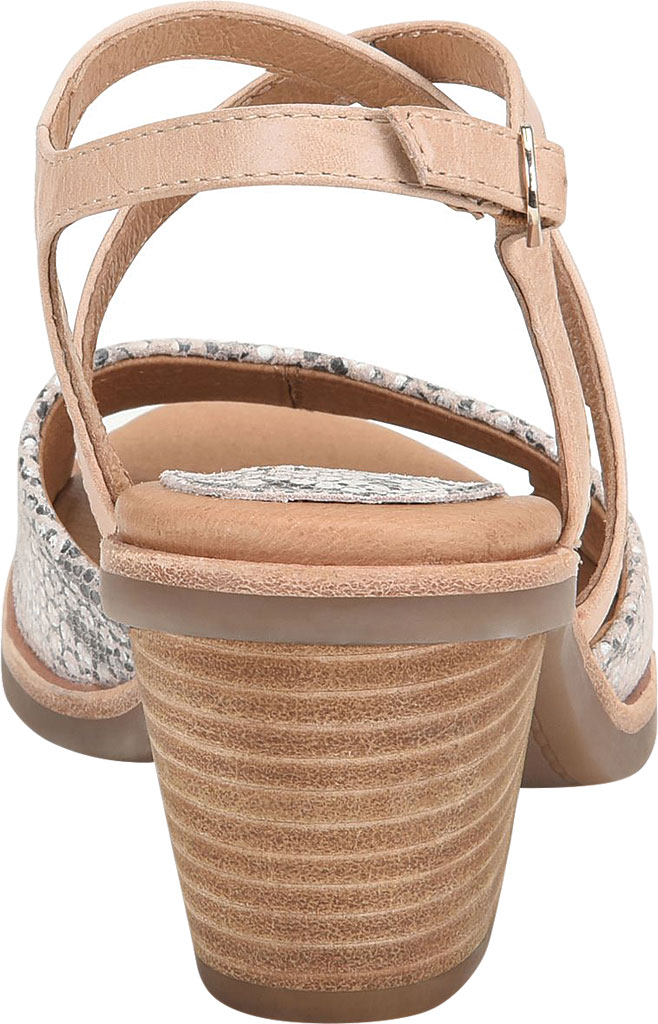 Women's Sofft Piara Heeled Slingback, Nude/Rosewater Snake Print Leather, large, image 4