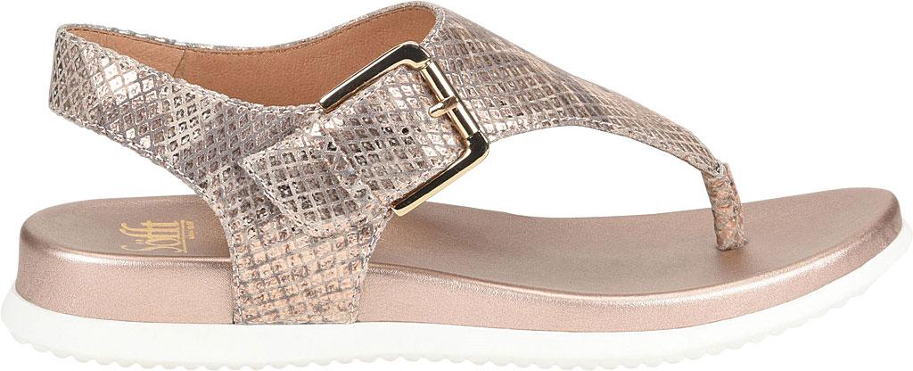 Women's Sofft Farlyn Platform Thong Sandal, Warm Gold Snake Metallic Leather, large, image 2