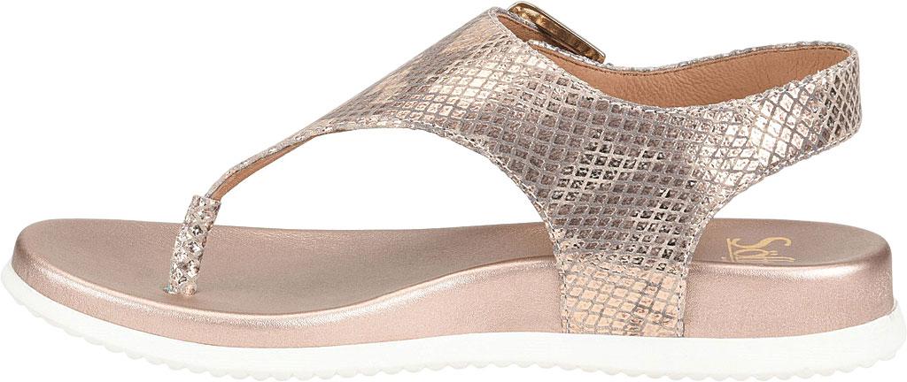 Women's Sofft Farlyn Platform Thong Sandal, Warm Gold Snake Metallic Leather, large, image 3