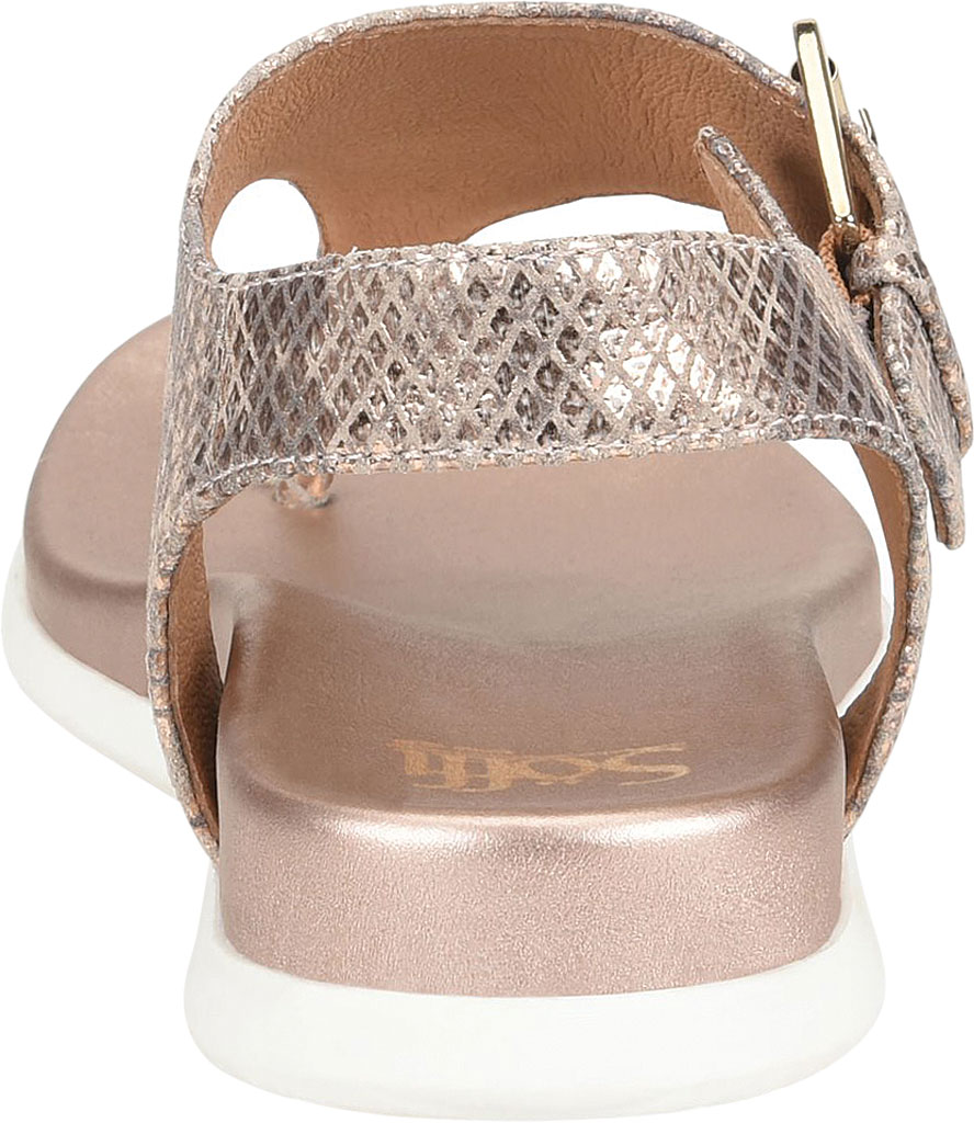 Women's Sofft Farlyn Platform Thong Sandal, Warm Gold Snake Metallic Leather, large, image 4