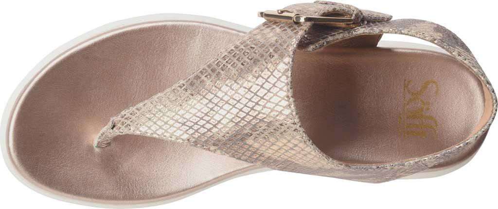Women's Sofft Farlyn Platform Thong Sandal, Warm Gold Snake Metallic Leather, large, image 5
