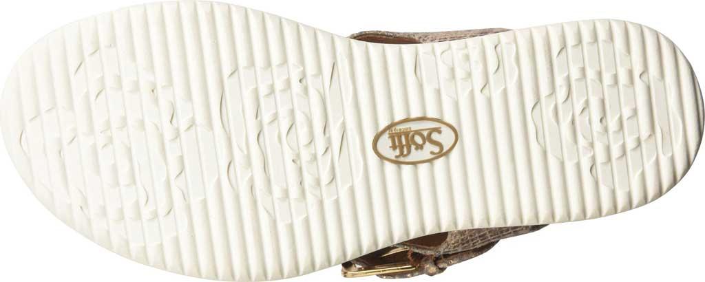 Women's Sofft Farlyn Platform Thong Sandal, Warm Gold Snake Metallic Leather, large, image 6