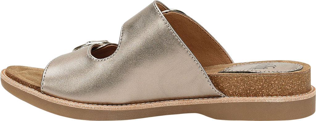 Women's Sofft Brooklyn Two Strap Slide, Anthracite City Lights Metallic Leather, large, image 3