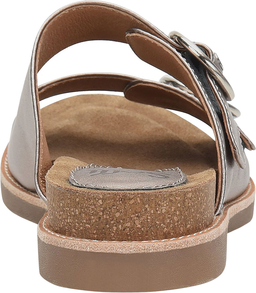 Women's Sofft Brooklyn Two Strap Slide, Anthracite City Lights Metallic Leather, large, image 4