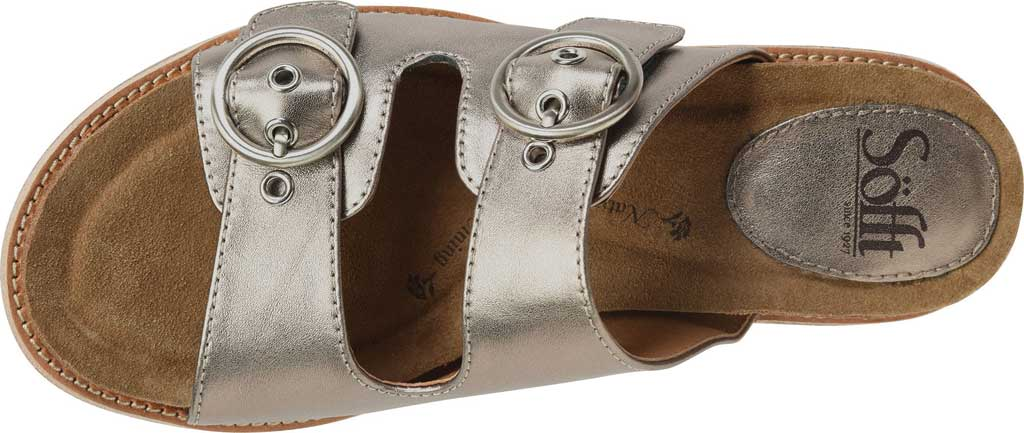 Women's Sofft Brooklyn Two Strap Slide, Anthracite City Lights Metallic Leather, large, image 5