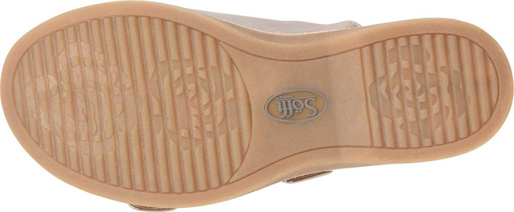 Women's Sofft Brooklyn Two Strap Slide, Anthracite City Lights Metallic Leather, large, image 6