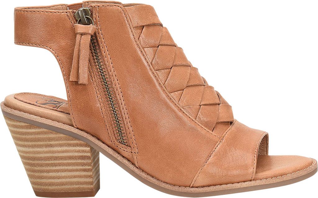 Women's Sofft Mckenna Heeled Open Toe Bootie, Luggage Leather, large, image 2