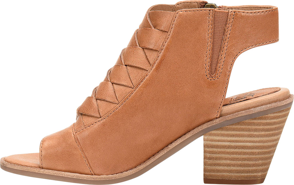 Women's Sofft Mckenna Heeled Open Toe Bootie, Luggage Leather, large, image 3