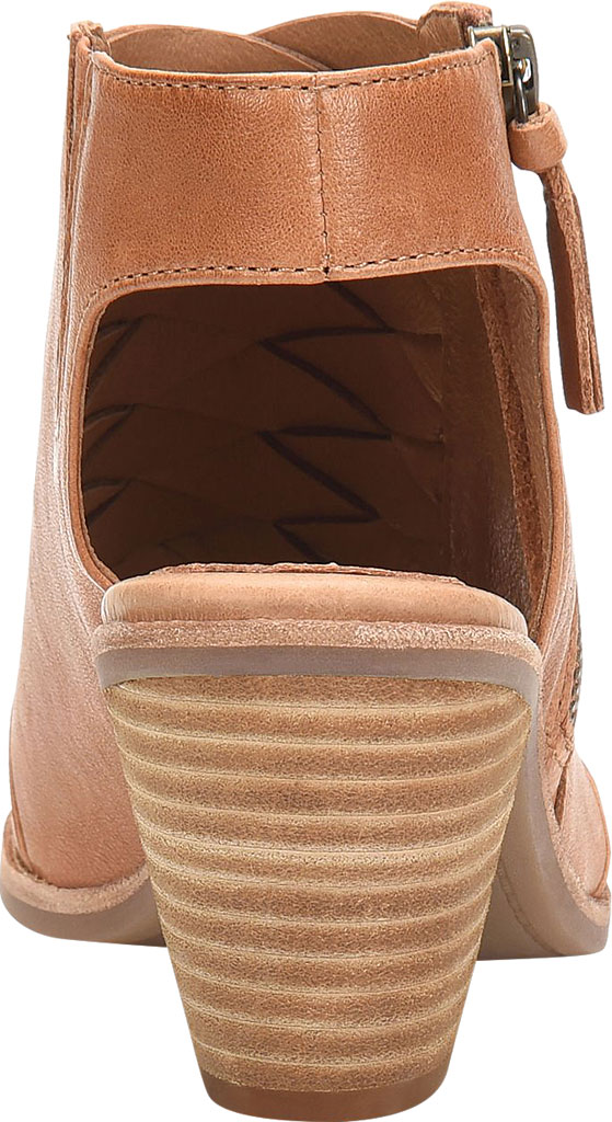Women's Sofft Mckenna Heeled Open Toe Bootie, Luggage Leather, large, image 4