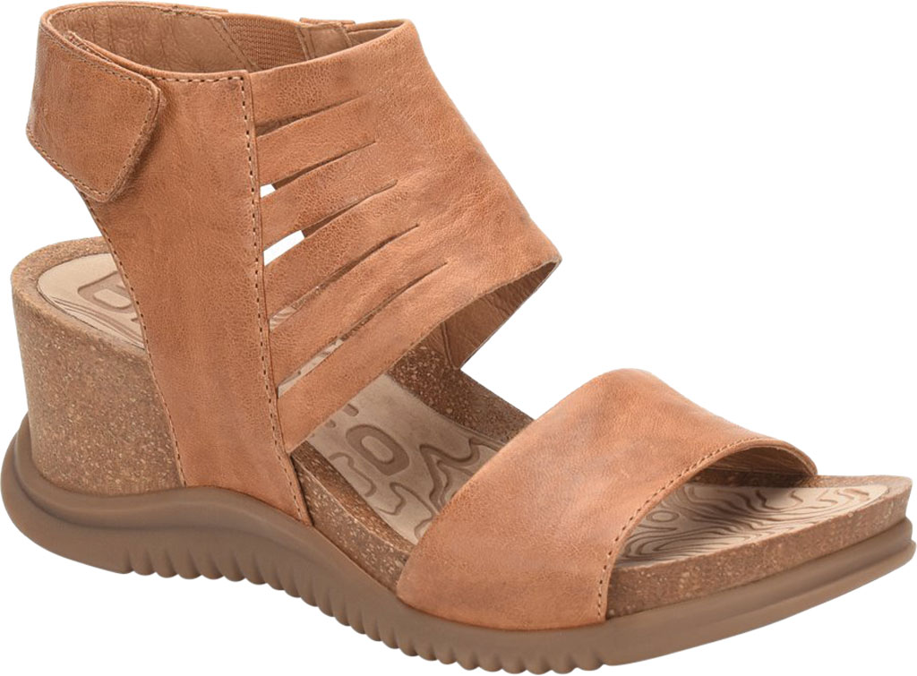 Women's Bionica Gracen Two Piece Wedge Sandal, Luggage Oyster Leather, large, image 1