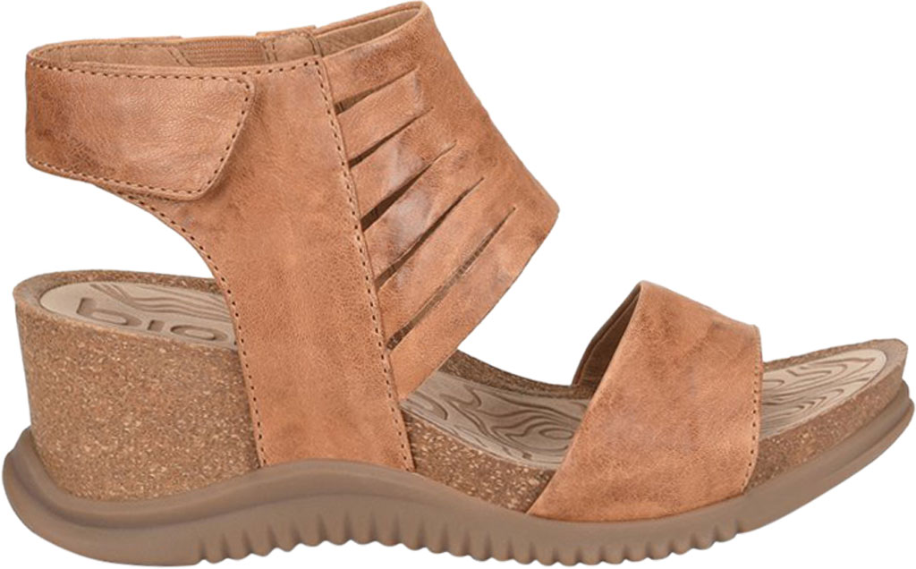 Women's Bionica Gracen Two Piece Wedge Sandal, Luggage Oyster Leather, large, image 2