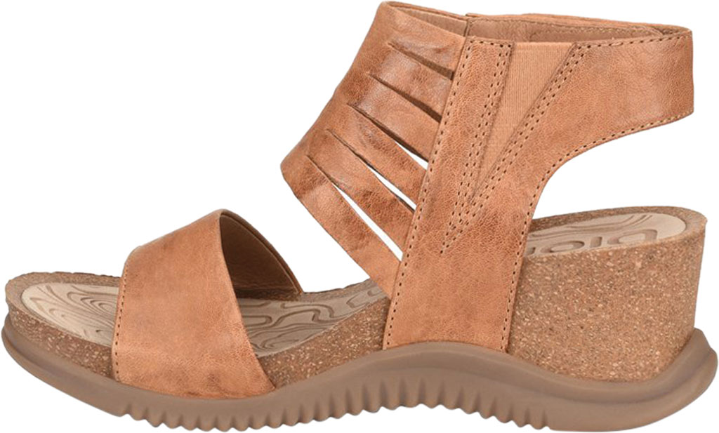 Women's Bionica Gracen Two Piece Wedge Sandal, Luggage Oyster Leather, large, image 3