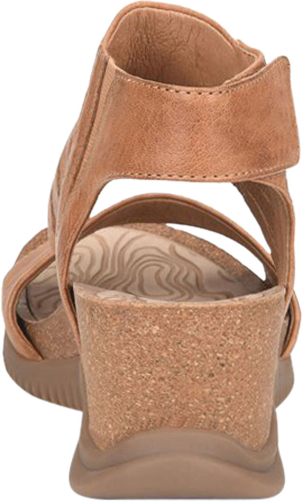 Women's Bionica Gracen Two Piece Wedge Sandal, Luggage Oyster Leather, large, image 4