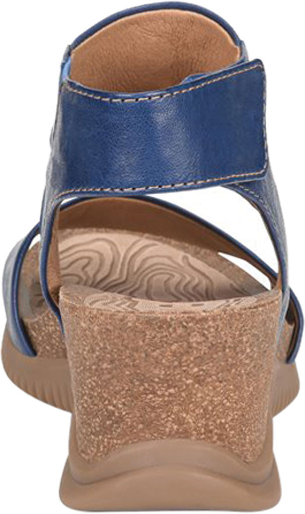 Women's Bionica Gracen Two Piece Wedge Sandal, Royal Blue Oyster Leather, large, image 4