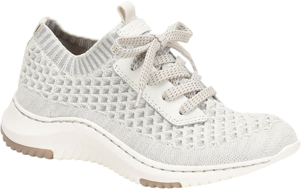 Women's Bionica Onie Knit Sneaker, White/Grey Knit Mesh, large, image 1