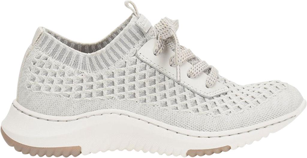 Women's Bionica Onie Knit Sneaker, White/Grey Knit Mesh, large, image 2