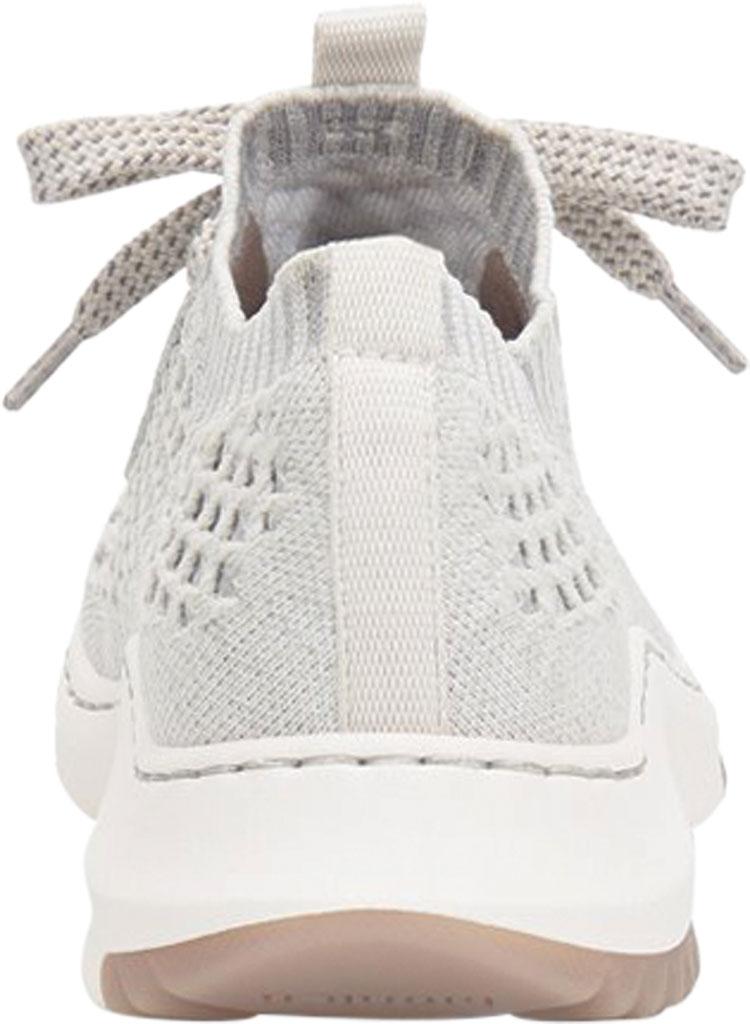Women's Bionica Onie Knit Sneaker, White/Grey Knit Mesh, large, image 4