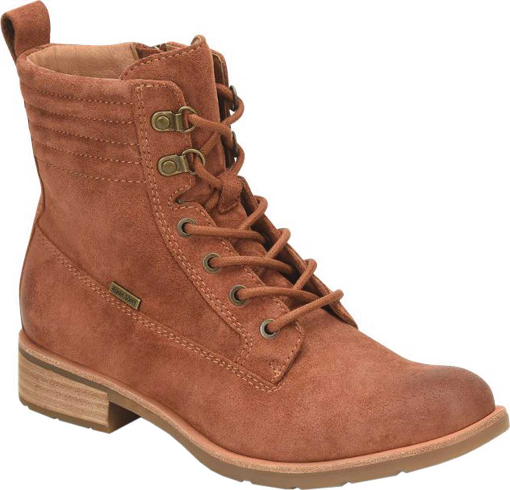Women's Sofft Baxter Lace Up Boot, Redwood Waterproof Suede, large, image 1