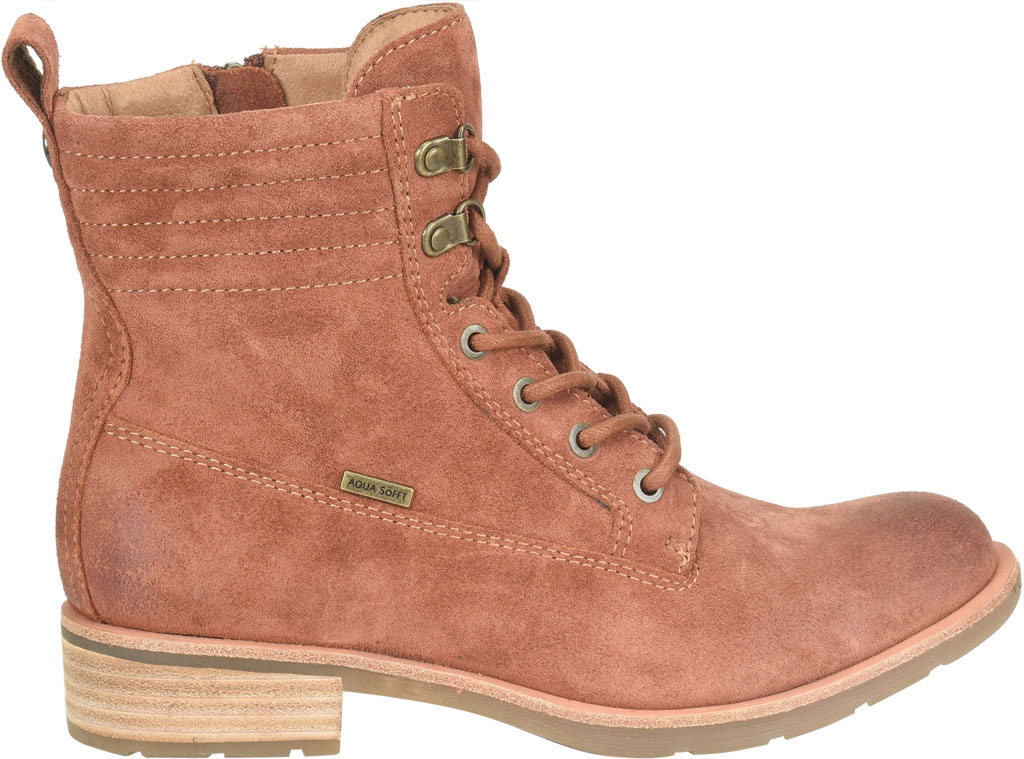 Women's Sofft Baxter Lace Up Boot, Redwood Waterproof Suede, large, image 2