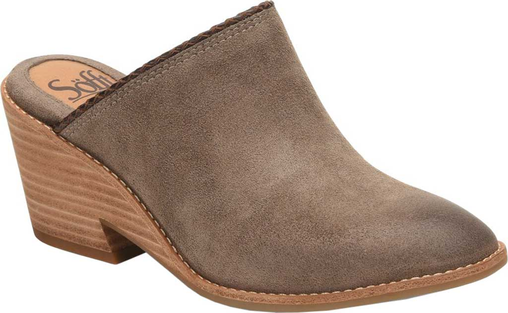 Women's Sofft Samarie Mule, Taupe Oiled Cow Suede, large, image 1