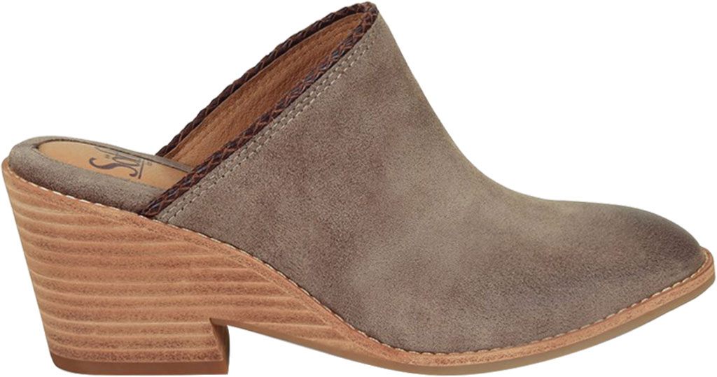Women's Sofft Samarie Mule, Taupe Oiled Cow Suede, large, image 2