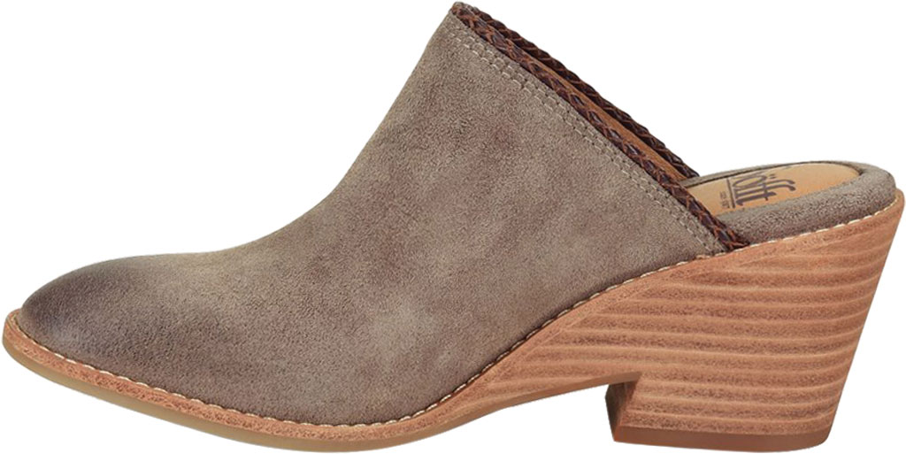 Women's Sofft Samarie Mule, Taupe Oiled Cow Suede, large, image 3