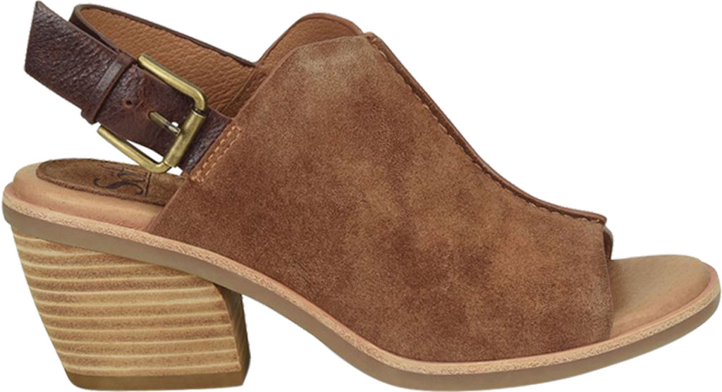 Women's Sofft Pelonia Heeled Slingback Sandal, Light Brown Cow Suede, large, image 2