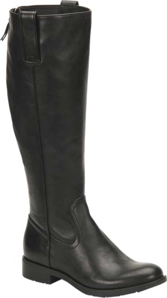 Women's Sofft Samantha Knee High Riding Boot, Black Duster Leather, large, image 1