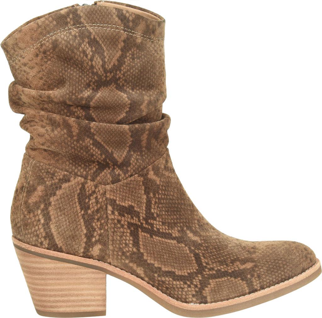 Women's Sofft Aronna Waterproof Slouch Boot, Cognac Waterproof Snake Print Suede, large, image 2