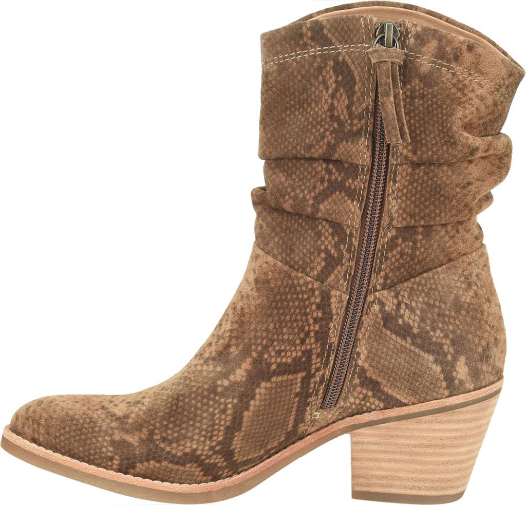 Women's Sofft Aronna Waterproof Slouch Boot, Cognac Waterproof Snake Print Suede, large, image 3