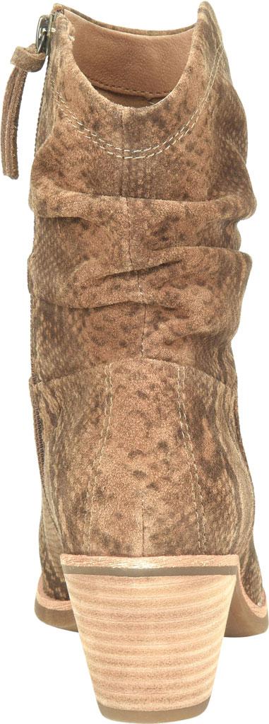 Women's Sofft Aronna Waterproof Slouch Boot, Cognac Waterproof Snake Print Suede, large, image 4