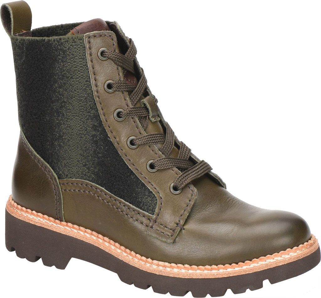 Women's Bionica Derinda Waterproof Boot, Dark Olive Duster Waterproof Leather, large, image 1