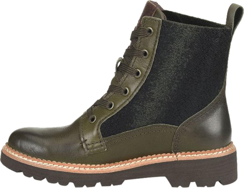 Women's Bionica Derinda Waterproof Boot, Dark Olive Duster Waterproof Leather, large, image 3