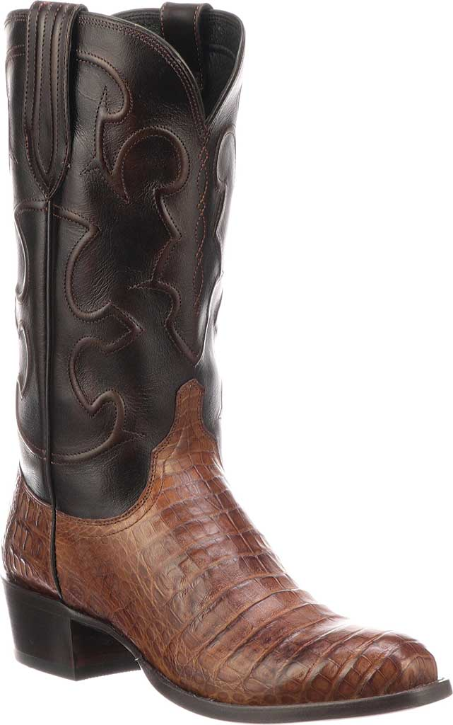 Men's Lucchese Bootmaker M1635.R4 Rounded Toe Cowboy Heel Boot, , large, image 1