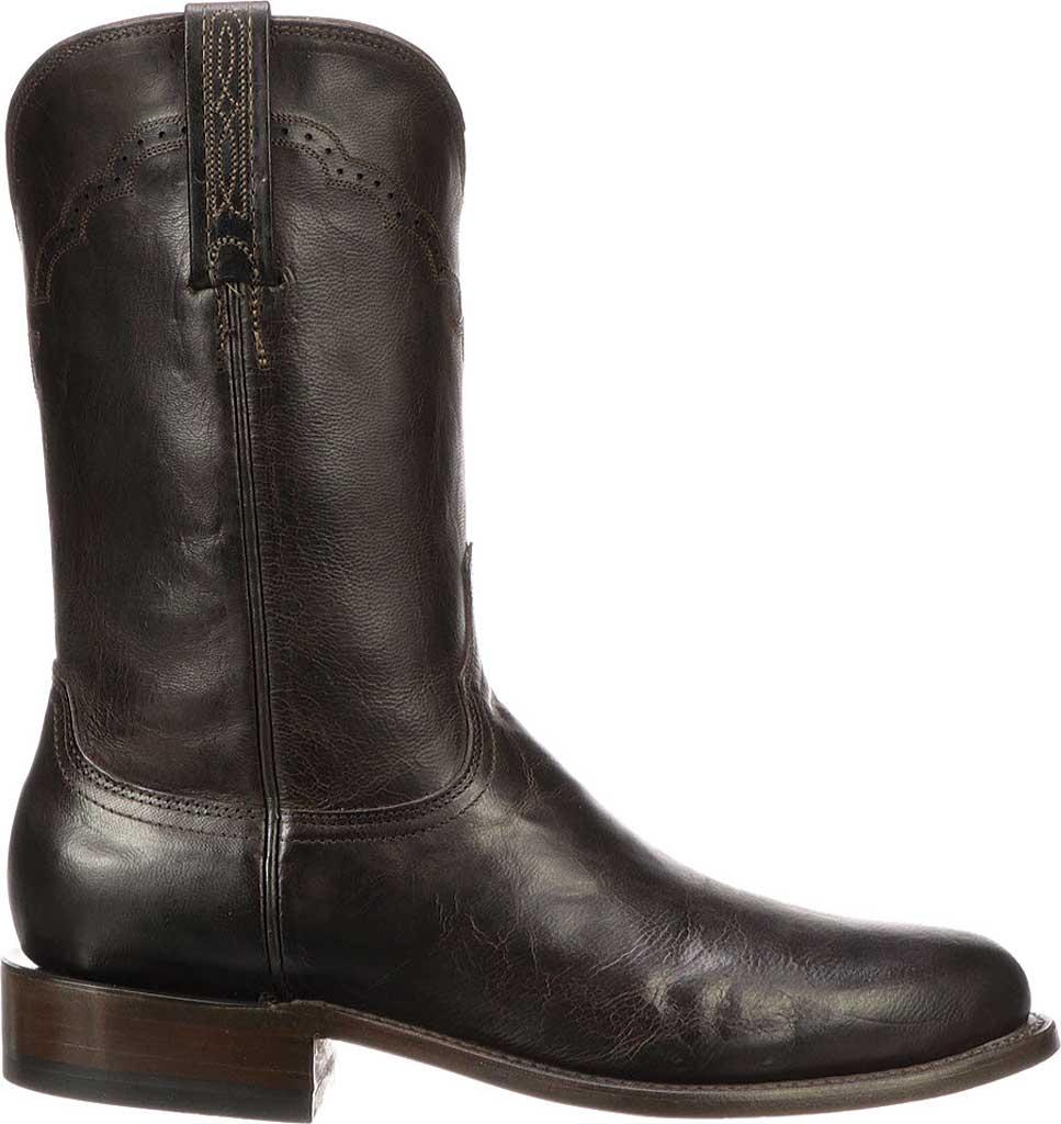 Men's Lucchese Bootmaker M1018.C2 Round Roper Toe 2 Heel, Chocolate Madras Goat, large, image 2