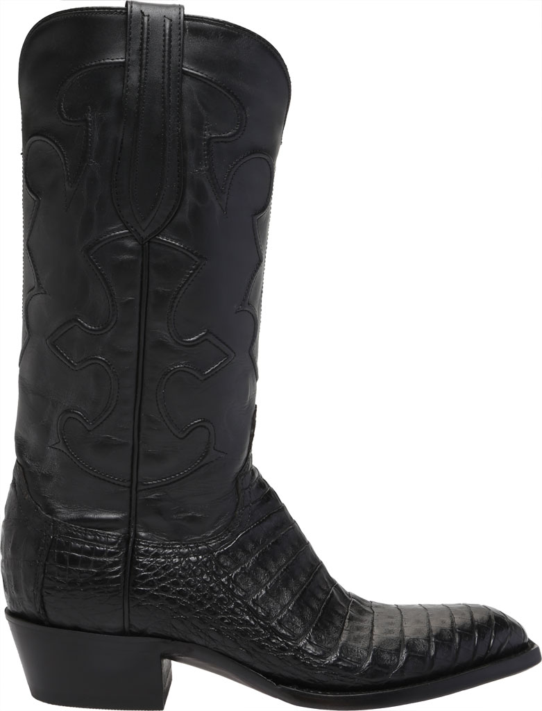 Men's Lucchese Bootmaker Charles 1 Toe Boot, Black Crocodile Belly, large, image 2