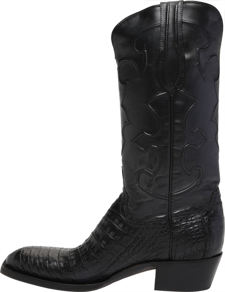 Men's Lucchese Bootmaker Charles 1 Toe Boot, Black Crocodile Belly, large, image 3
