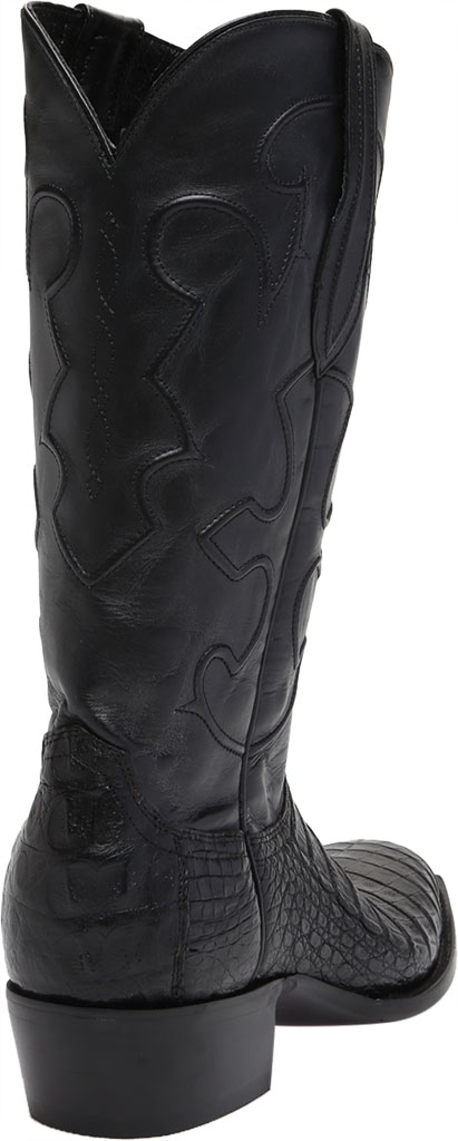 Men's Lucchese Bootmaker Charles 1 Toe Boot, Black Crocodile Belly, large, image 4