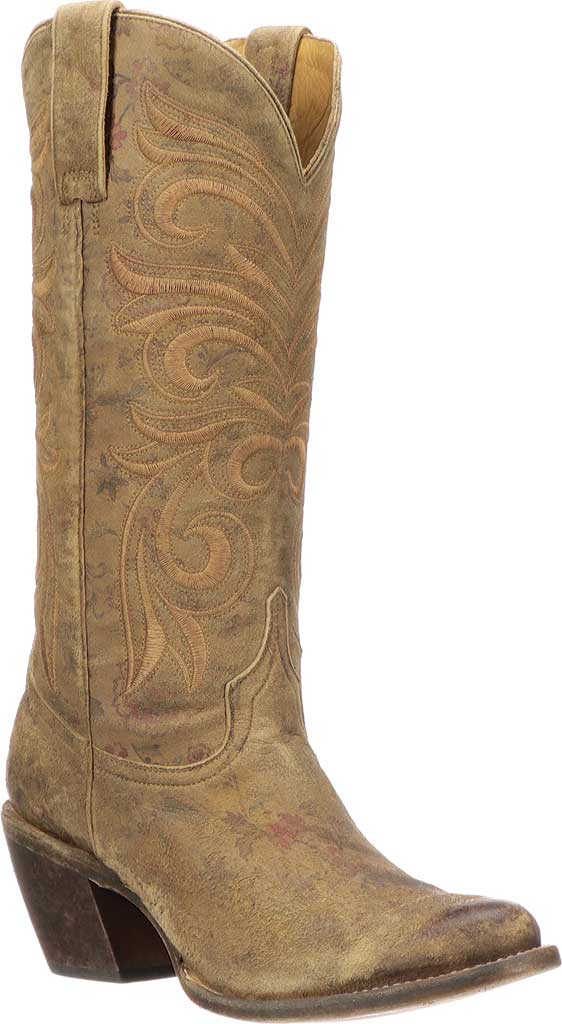 Women's Lucchese Bootmaker Lauralie H Toe Boot, Brown Cowhide, large, image 1
