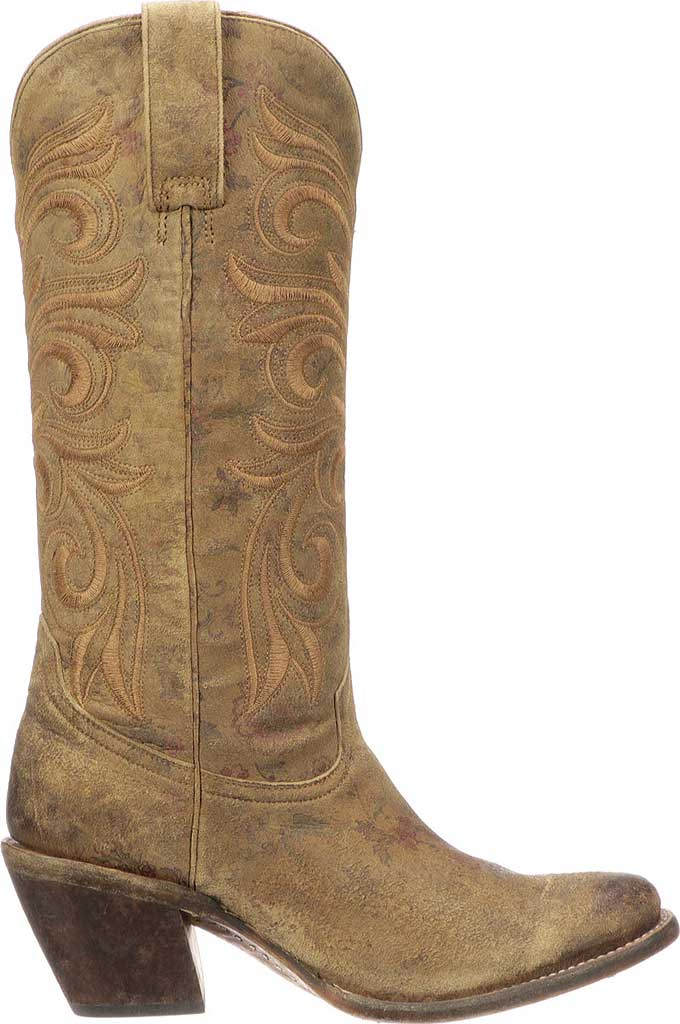 Women's Lucchese Bootmaker Lauralie H Toe Boot, Brown Cowhide, large, image 2