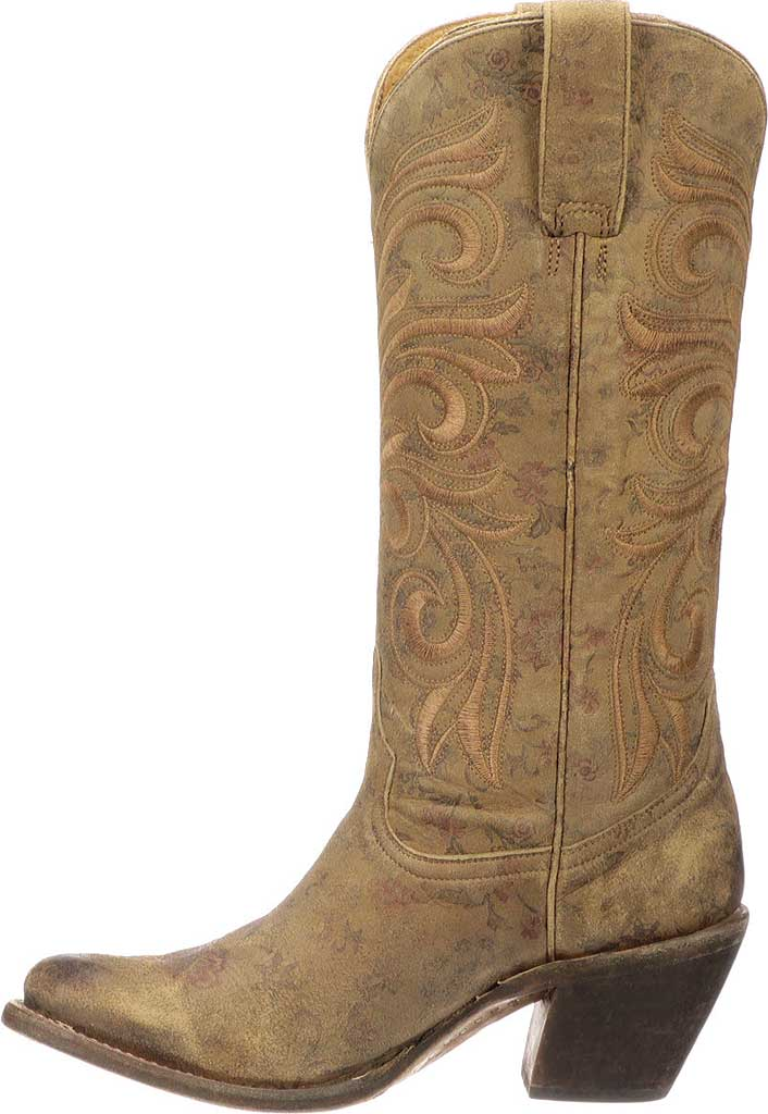 Women's Lucchese Bootmaker Lauralie H Toe Boot, Brown Cowhide, large, image 3